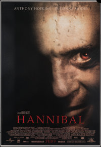 """Hannibal (MGM, 2001). Rolled, Fine/Very Fine. Vinyl Banner (48"""" X 70"""") DS Advance. Crime"""