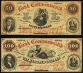 Obsoletes By State:Virginia, Richmond, VA- Bank of the Commonwealth $50; $100 1858 G8a; G10a J-L BR15-40; BR15-45 Fine.. ... (Total: 2 notes)
