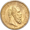German States:Württemberg, German States: Württemberg. Karl I gold 20 Mark 1873-F MS65 PCGS,...