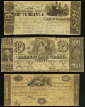 Obsoletes By State:Virginia, Richmond, VA- Farmers Bank of Virginia, Lynchburg, Winchester, Fredericksburg (?) Branches $10; $20; $30 G312; G462; G236 J-... (Total: 3 notes)