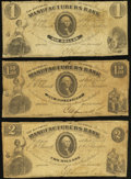 Obsoletes By State:Virginia, Richmond, VA- Southern Manufacturers Bank $1; $1.50; $2 May 1, 1861 J-L BR95-05; BR95-10; BR95-15 Very Good-Fine.. ... (Total: 3 notes)