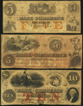 Obsoletes By State:Virginia, Fredericksburg, VA- Bank of Commerce Spurious $5 (2); Altered $10 1855-59 S5; S10; A5 J-L BF30-09; BF30-12; BF30-19 Very G... (Total: 3 notes)