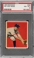 Baseball Cards:Singles (1940-1949), 1949 Bowman Pee Wee Reese #36 PSA NM-MT 8. ...