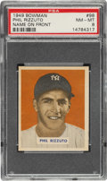 Baseball Cards:Singles (1940-1949), 1949 Bowman Phil Rizzuto (Name on Front) #98 PSA NM-MT 8. ...