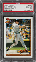Baseball Cards:Singles (1970-Now), 1991 Topps Desert Shield Cal Ripken Jr. #150 PSA Gem Mint 10....