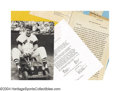 Baseball Cards:Other, Ted Williams Historic Archive -- His Long Lost Sports ... (4 items)