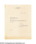 Autographs:Letters, Ted Williams 1969 Signed Letter Mailed from Ted's home in ...