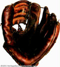Baseball Collectibles:Others, Ted Williams Game-Used Fielder's Glove Circa 1955 Ted ... (2 pieces)