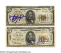 Autographs:Others, Carl Yastrzemski Signed Rare Currency (2) For the Yaz ... (2 items)