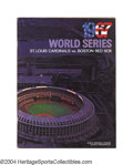 Baseball Cards:Other, Boston Red Sox World Series Ticket and Program Collection ... (7pieces)