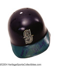 Baseball Collectibles:Hats, Alex Rodriguez 1994-95 Game-Worn and Signed Batting Helmet