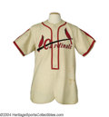 Baseball Collectibles:Uniforms, Cardinals 1940's Game Used Minor League Jersey Given that ...