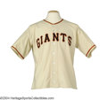 Baseball Collectibles:Uniforms, Ray Mueller 1949 Game-Worn Jersey Just like the '49 New ...