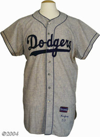 """Sandy Koufax 1957 Brooklyn Dodgers Game Worn Road Jersey Curiosity forces us to ask """"What if?"""" That's what a s..."""