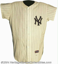 Mickey Mantle 1963 New York Yankees Game-Worn Home Jersey Imagine it is May 22, 1963. You are sitting in the grandstand...