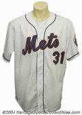 Baseball Collectibles:Uniforms, 2001 Mike Piazza Game-Worn Jersey Having just eclipsed ...