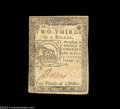 Colonial Notes:Continental Congress Issues, Continental Congress Issue February 17, 1776 $2/3 Extremely ...