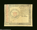 Colonial Notes:Continental Congress Issues, Continental Currency January 14, 1779 $1 Counterfeit ...