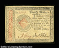 Colonial Notes:Continental Congress Issues, Continental Congress Issue January 14, 1779 $20 Choice Very ...