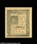 Colonial Notes:Delaware, Delaware January 1, 1776 4s Superb Gem New. An ...