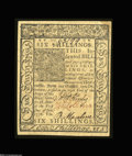 Colonial Notes:Delaware, Delaware January 1, 1776 6s Choice New. A Gem but for two ...