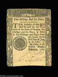 Colonial Notes:Vermont, Vermont February 1781 2s6d Extremely Fine. One of the ...