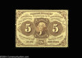 Fractional Currency:First Issue, Fr. 1229 5c First Issue Very Choice New. A bright, well ...
