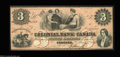 Canadian Currency: , Toronto, ON- Colonial Bank of Canada $3 May 4, 1859 Ch. # ...