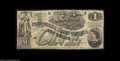 Confederate Notes:1862 Issues, T45 $1 1862. A solid Fine-Very Fine example with great ...