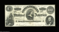 Confederate Notes:1862 Issues, T49 $100 1862. This beautiful example has several light ...
