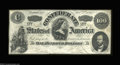 Confederate Notes:1862 Issues, T49 $100 1862. Very Fine-Extremely Fine, a problem-...