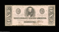 Confederate Notes:1862 Issues, T55 $1 1862. A high end example of this type that was ...