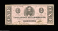 Confederate Notes:1863 Issues, T62 $1 1863. Faint signs of handling are the only flaws on ...