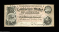 Confederate Notes:1864 Issues, T64 $500 1864. Pleasing and original Extremely Fine-...