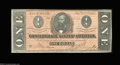 Confederate Notes:1864 Issues, T71 $1 1864. A pleasing example with a deep orange tint ...
