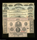 Confederate Notes:Group Lots, 1863 Confederate Type Set.