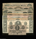 Confederate Notes:Group Lots, 1864 Type Set.