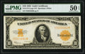 Large Size:Gold Certificates, Fr. 1173 $10 1922 Gold Certificate PMG About Uncirculated 50 EPQ.. ...
