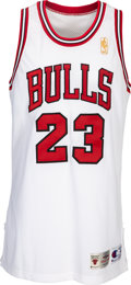Basketball Collectibles:Uniforms, 1996-97 Michael Jordan Game Worn & Signed Chicago Bulls Uniform with Bulls Team Letter--Photo Matched to Career-High Rebounds ...