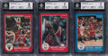 Basketball Cards:Sets, 1984-85 Star Co. Basketball Complete Set (288) With #101 Michael Jordan BGS NM-MT 8. ...