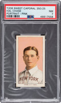 Baseball Cards:Singles (Pre-1930), 1909-11 T206 Sweet Caporal 350/25 Hal Chase (Portrait-Pink) PSA NM 7 - Pop One, None Higher for B/S/F. ...