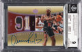 Basketball Cards:Singles (1980-Now), 2004-05 Upper Deck Exquisite Collection Dennis Rodman Exquisite Number Pieces Jersey Autograph #RO BGS Mint 9, Auto 10....