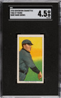 Baseball Cards:Singles (Pre-1930), 1909-11 T206 Sovereign Cy Young (Bare Hand Shows) SGC VG/EX+ 4.5. ...