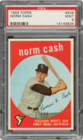 Baseball Cards:Singles (1950-1959), 1959 Topps Norm Cash #509 PSA Mint 9 - Only Three Higher. ...