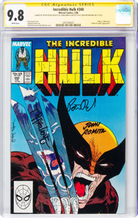 The Incredible Hulk #340 Signature Series: Todd McFarlane and Others (Marvel, 1988) CGC NM/MT 9.8 White pages
