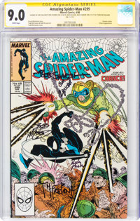 The Amazing Spider-Man #299 Signature Series: Todd McFarlane and Others (Marvel, 1988) CGC VF/NM 9.0 White pages