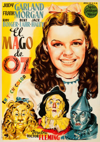 "The Wizard of Oz (MGM, 1945). Fine- on Linen. First Release Spanish One Sheet (27.5"" X 39"")"