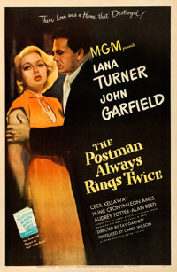 """The Postman Always Rings Twice (MGM, 1946). Fine/Very Fine on Linen. One Sheet (27"""" X 41.25"""")"""