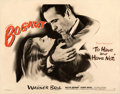 """Movie Posters:Film Noir, To Have and Have Not (Warner Bros., 1944). Very Fine- on Paper. Half Sheet (22"""" X 28"""") Style A.. ..."""