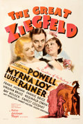 """Movie Posters:Academy Award Winners, The Great Ziegfeld (MGM, 1936). Very Fine- on Linen. One Sheet (27.5"""" X 41"""") Style D, Ted """"Vincentini"""" Ireland Artwork.. ..."""